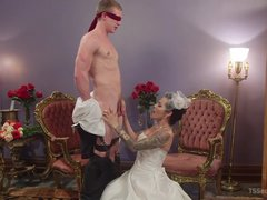 Shemale bride Foxxy fucks her new husband