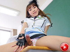 Schoolgirl newhalf Karina returns to Shemale Japan