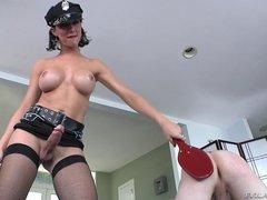 Danika Dreamz in police uniform bangs straight guy