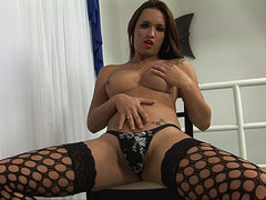 Young shemale cutie hot striptease